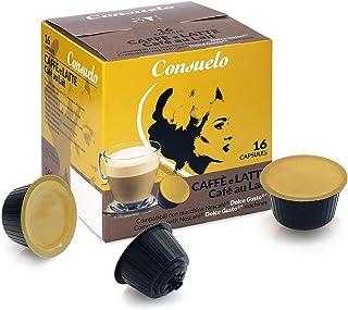 Consuelo - Lot de 96 (16x6) capsules compatibles avec machine à café Dolce Gusto* - goût café au lait