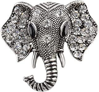 be988f0a1a7 Silver: Gluckliy Retro Vintage Elephant Brooch Lapel Collar Brooches Pin  Jewelry Clothing Accessories (Silver