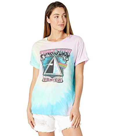 Chaser Pink Floyd Dark Side Of The Moon Recycled Vintage Jersey Tie-Dye Tee