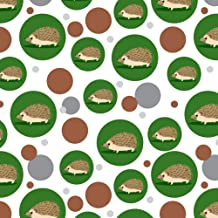 GRAPHICS & MORE Hedgehog on Green Premium Gift Wrap Wrapping Paper Roll