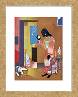 McGaw Graphics Falling Star, 1979 by Romare Bearden Framed Print, 16x13x1, Multi