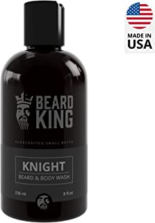 BEARD KING - Beard & Body Wash - Knight - 100% Natural, Moisturizing Wash for Men, Delivers Nutrients & Vitamins to Nourish Facial Hair and Promote Growth, Made in USA - 8 oz. (Knight)