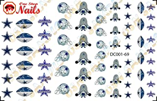 Dallas Cowboys Waterslide nail decals (Tattoos) V1 (Set of 69)