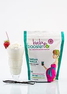 Prenatal Vitamin Supplement Shake - Baby Booster Tahitian Vanilla - 1lb bag - OBGYN Approved - All Natural - Tastes Great - Vegetarian DHA - High Protein - Folic Acid - B6 - Great for Morning Sickness