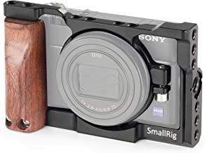 SMALLRIG RX100 Cage Kit Compatible with Sony RX100 VI (for Sony M6) Camera with Wooden Handle Handgrip – 2225