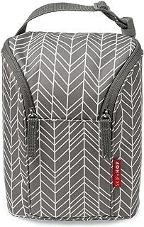 Skip Hop Baby Bottle Bag, Grab & Go, Grey Feather
