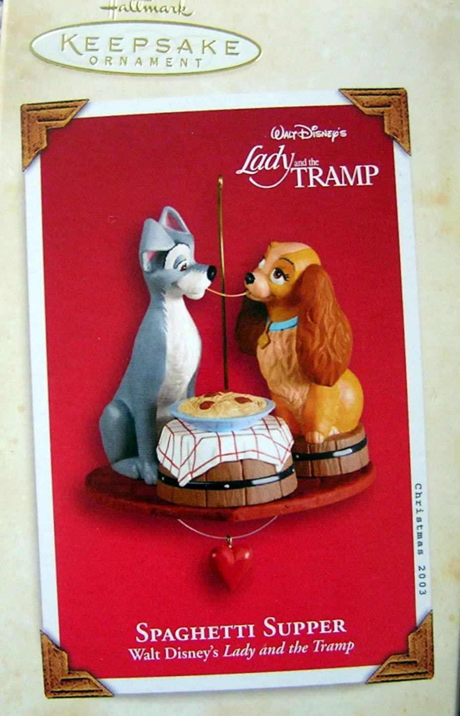 Hallmark Directly managed store Lowest price challenge Keepsake Lady and the 2003 Tramp Supper - Spaghetti