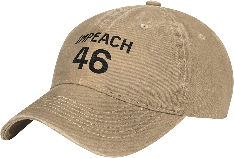 YSMYYXGS Impeach 46 Cap,Baseball Cap Public Welfare Outdoors Casual Unisex Fashion Gift