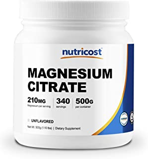 Sponsored Ad - Nutricost Magnesium Citrate Powder (500 Grams) (Unflavored)