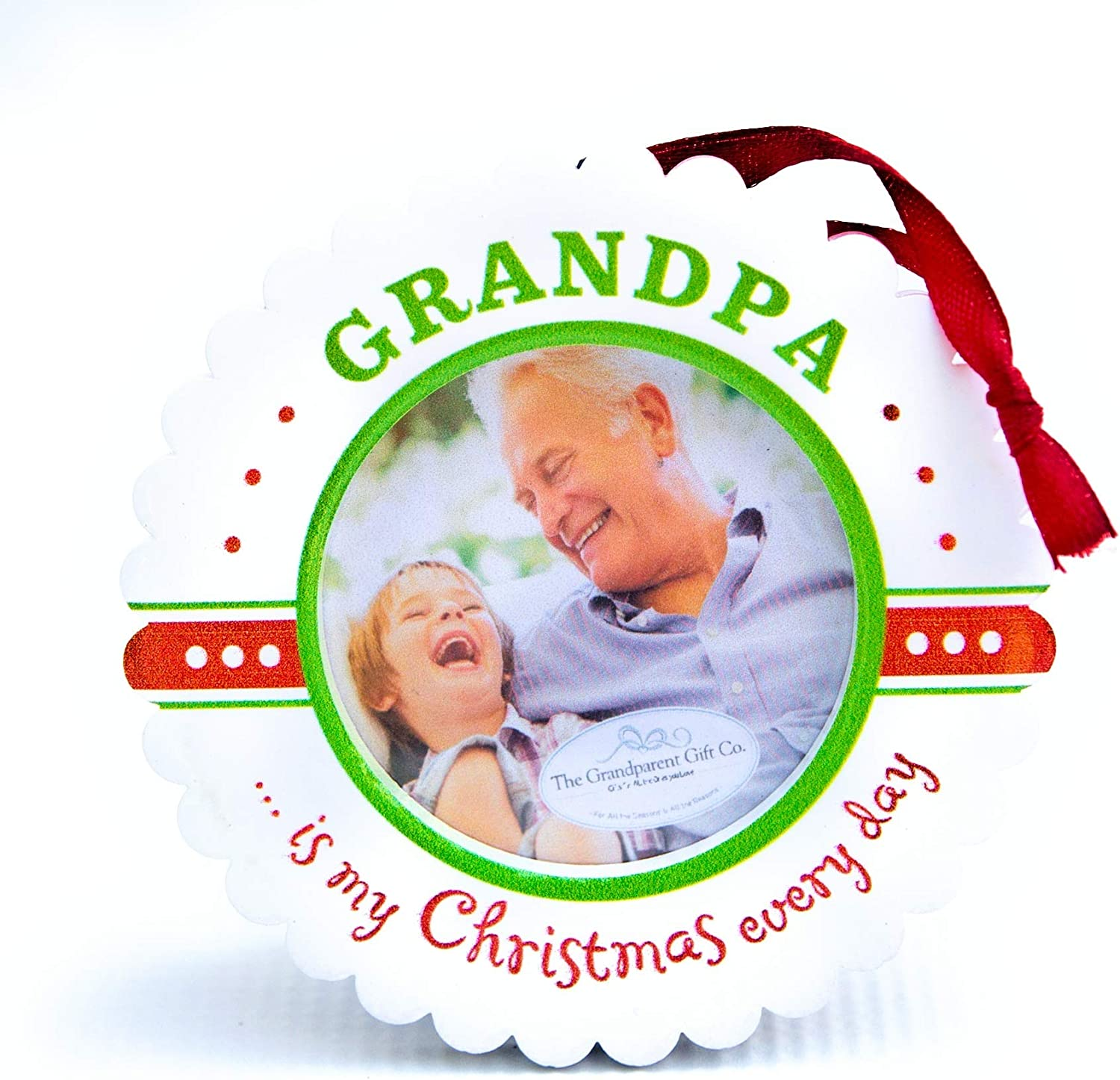 First Christmas Picture Frame Christmas Baby Gift Who Needs Santa I Have Grandma Grandparents frame Christmas Gift Grandma Grandpa