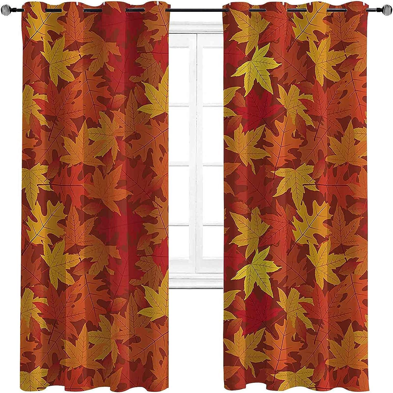 Burnt Orange Decor Max 63% Max 51% OFF OFF Room Darkened Curtain Grommet Mul Insulation
