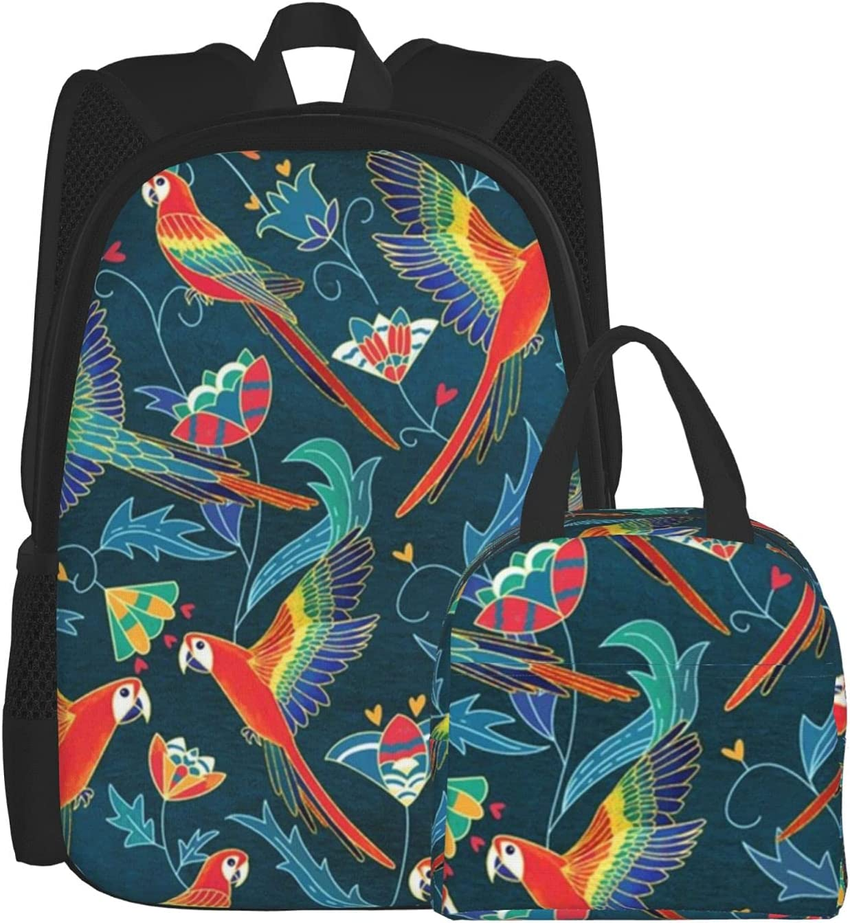 Lunch Bag And Backpack Max 45% OFF Purchase Combination Pack Gold Red Enamel Macaws L