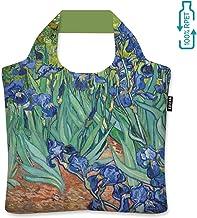 ecozz Irises – Vincent Van Gogh – Bolsa de la Compra de 100% rPET (Botellas de Pet recicladas) de Repelente de Agua con Cremallera de Bolsas de la Compra, Bolso, Bolsa de Viaje, Bolsa de Playa