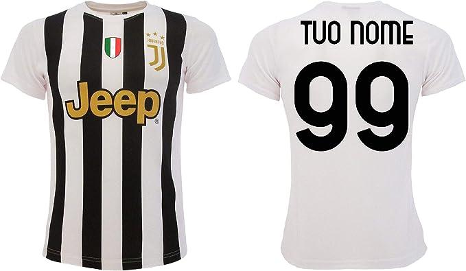 Maglia Personalizzata Juventus bianconera Ufficiale Juve 2021 Tuo Nome e Numero Personalizzabile 2020-2021 Adulto Ragazzo Bambino Home