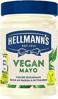 Hellmann's Vegan Mayonnaise Glas (frei von Gluten & Eiern - 100% pflanzlich ohne Zusatz von künstlichen Geschmacksverstärk...