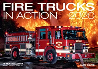 Fire Trucks in Action 2020: 16-Month Calendar - September 2020 Through December 2020