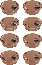 Kabeldoorvoer bureau bruin kabeldoorvoer 60 mm Ø tafeldoorvoer kabeldoorvoer 8 stuks ronde kabeldoorvoer voor bureaus werk...