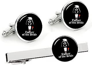 Kooer Classic Stylish Star Wars Cuff Links Personalized Wedding Cufflinks Gift for Men