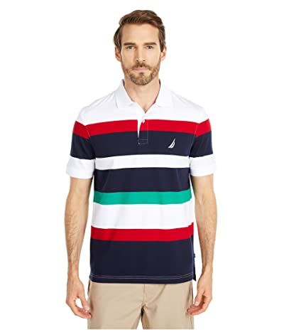 Nautica Jersey Knit Polo (White) Men