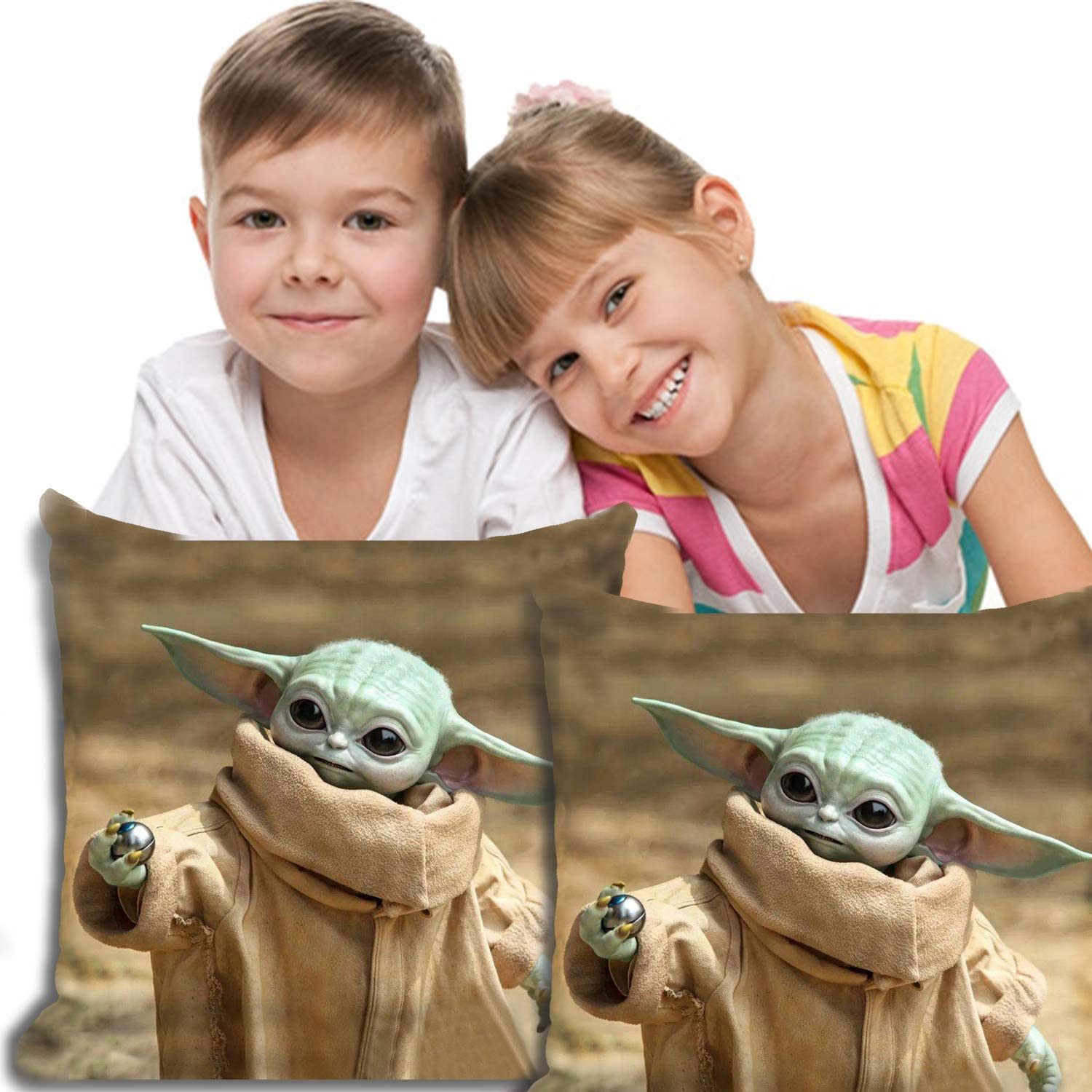 Baby Yoda The Mandalorian Bedding Pillowcase Kids Super Soft Bedding Home Decorative Pillow Covers for Children Standard Size 13x11 inches Pattern1
