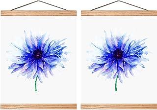 Magnetic Poster Hanger Wooden Poster Hanger Frame DIY Artwork Hanger for Photo Picture Artwork Supplies(8 Inch, 2 Sets)