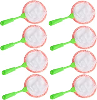 Hapy Shop 8 Pcs Kids Bug Catcher Nets,Insect Collecting Nets Catcher Adventure Tool for Specimen Observation Kids Bath Toy Adventure Tool