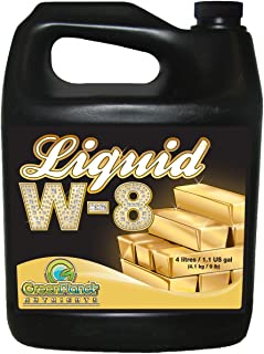 Green Planet Nutrients - Liquid W-8 (4 Liters)   Complex Blend of Organic Enzyme Activators, Vitamins, Essential Amino Acids and Unique Carbohydrates - Maximize Your Plants Yield During Flowering!