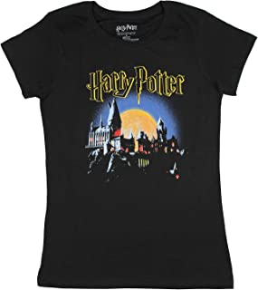 Real Deal Sales LLC Hogwarts Shirt School of Witchcraft and Wizardry Juniors Costume Logo Tee