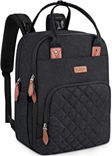 Diaper Backpack Multifunction Waterproof Diaper Bag Backpack Lightweight Maternity Neutral Baby Bags for Mom Dad Travel Backpack with Stroller Straps Black