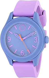 ESQ Movado Women's 07101454 Violet Silicone/Periwinkle Silicone-Wrapped Stainless Steel Watch
