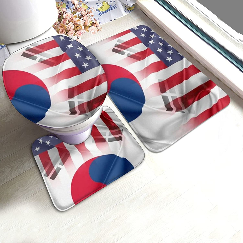 South Korea Kansas City Mall United States Flag 3 Set Rugs Use Bathroom Save money Lu Pieces