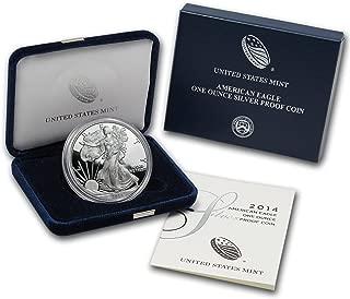 2014 W 1 oz Proof Silver American Eagle (w/Box & COA) 1 OZ Brilliant Uncirculated