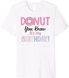Donut Funny 1st Birthday Shirt Matching Family Cake