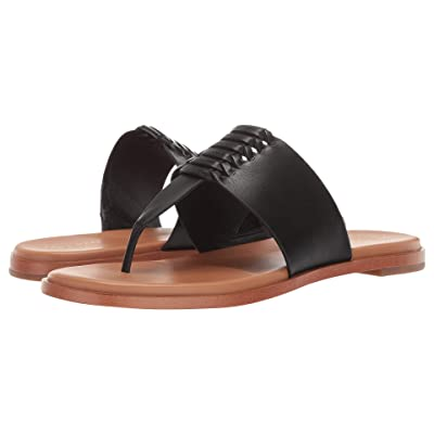 Cole Haan Felix Grand Thong Sandal (Black Leather) Women