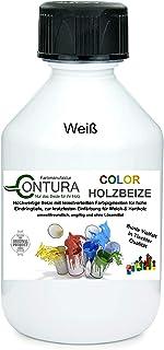 Colorbeize Weiß Holzbeize Tischler Beize Holz Farbe Wasserbeize Möbel Holzfarbe Wasserbasis 500ml