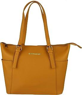 Giordano Women's Tote yellow Colored Handbag