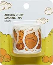 KAKAO FRIENDS Official- Autumn Story Masking Tape, Mini Stickers for Deco Craft Gift Packing Scrapbook (Ryan)