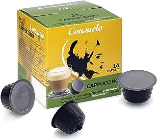Consuelo - Lot de 96 (16x6) capsules compatibles avec machine à café Dolce Gusto* - goût cappuccino