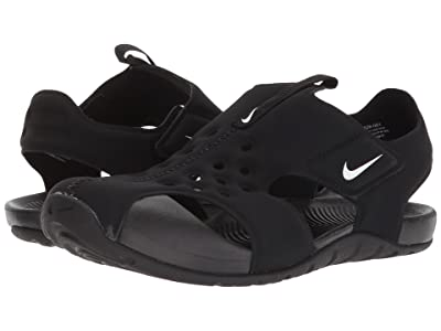 Nike Kids Sunray Protect 2 (Little Kid) (Black/White) Boys Shoes