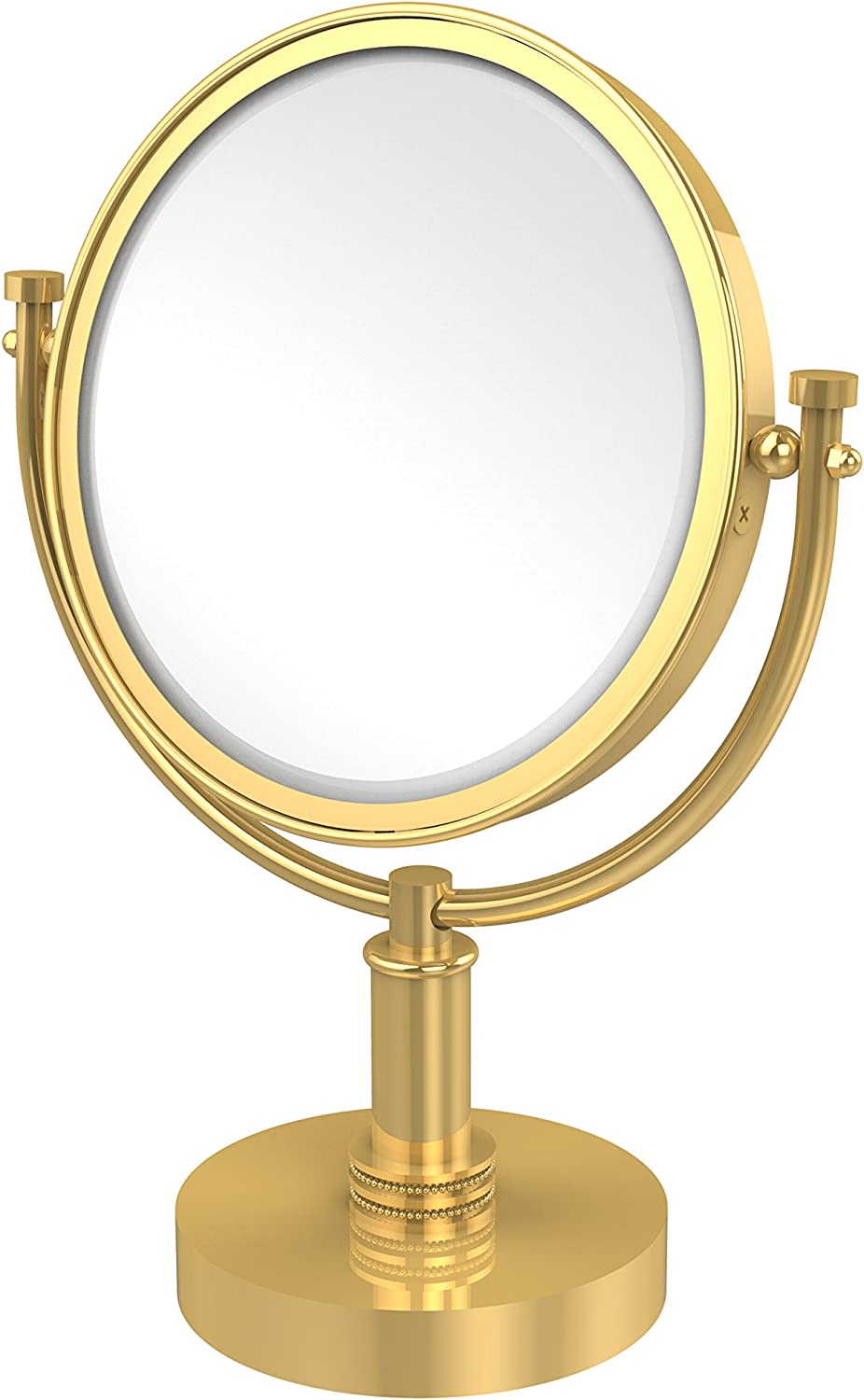 Allld  Allied Brass DM-4D 5X-PB 8 inch Vanity Top Make-up Mirror 5X Magnification,