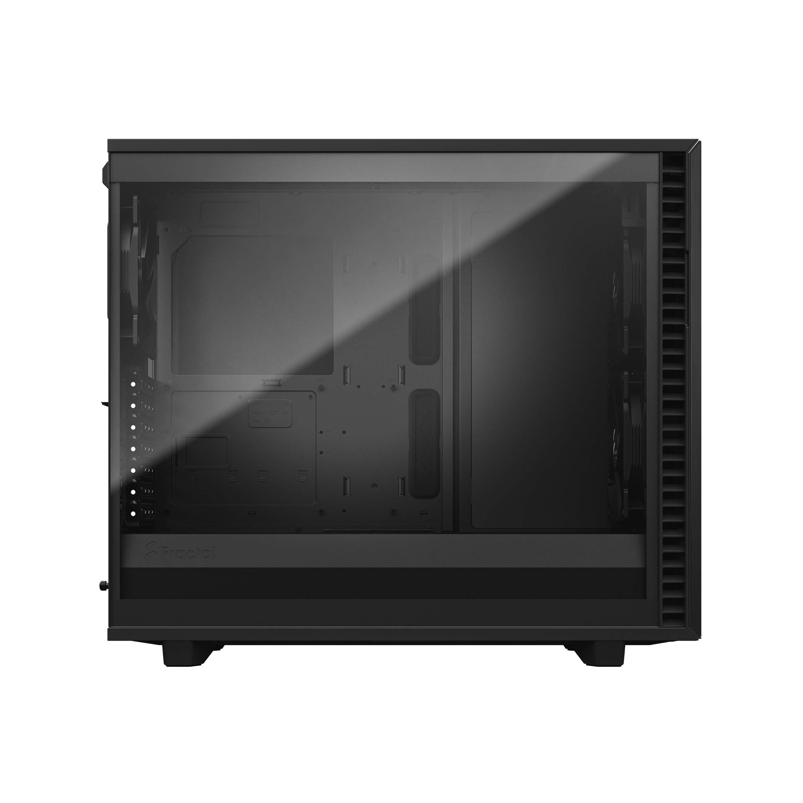 Fractal Design Define 7 Gris - Aluminio Cepillado/Acero - Panel Lateral de Vidrio Templado y teñido - Interior Modular E-ATX - Mid Tower Carcasa de Ordenador: Amazon.es: Informática