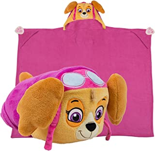 Comfy Critters Stuffed Animal Plush Blanket – PAW Patrol Skye – Kids Wearable Pillow and Blanket