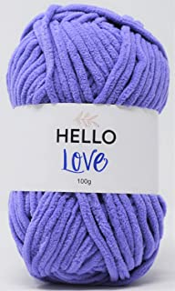 HELLO LOVE Yarn, Grape, 100g