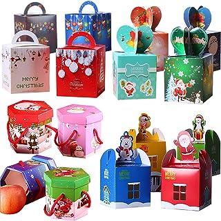 caja de dulces navideños Fiyuer 40 Pcs cajas galletas navidad para Niños Adultos Presenta Chuches Cumpleaños Artículo Accesorios: Amazon.es: Hogar