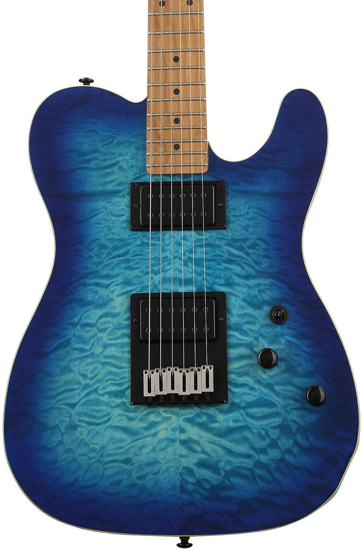 Schecter PT Pro Trans Blue Burst · Guitarra eléctrica