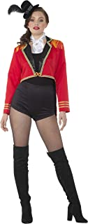 Sexy Ringmaster Costume - Halloween Womens Vintage Carnival Cropped Red Outfit