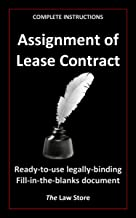 Assignment of Lease (with instructions) (English Edition)