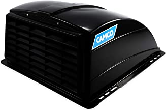Camco Standard Roof Vent Cover, Opens for Easy Cleaning, Aerodynamic Design, Easily Mounts to RV with Included Hardware-Black (40443)