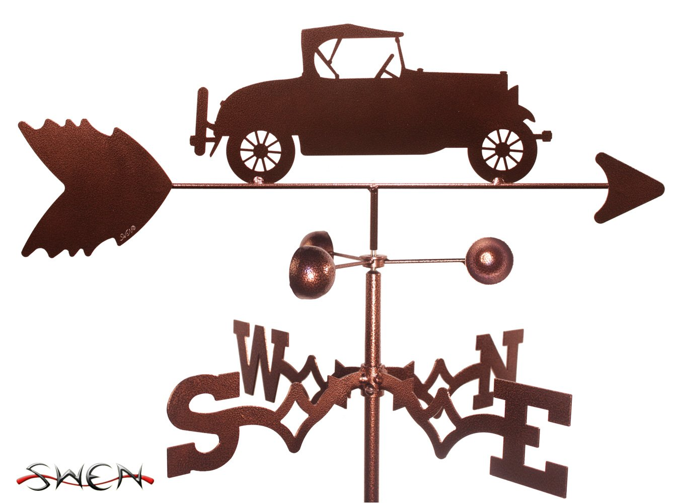 Amazon Com Swen Products Car Model A Weathervane Windcup Weathervanes Garden Outdoor