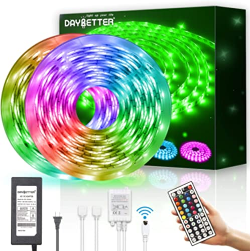 Led Strip Light Waterproof 600leds 32.8ft 10m Waterproof Flexible Color Changing RGB SMD 5050 600leds LED Strip Light...